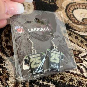 NFL Seattle Seahawks Sherman Jersey Earrings